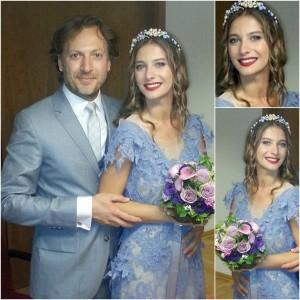Туба Юнсал се омъжва за Миргюл в синя булчинска рокля