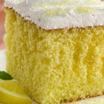 Кексът с лимонада и глазура от белтъци