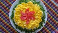 """Така се прави салата """"Слънце"""" (много лесна и вкусна)"""